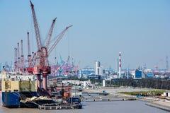 Chantier naval de Changhaï images stock