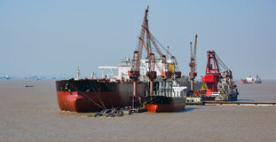 Chantier naval de Changhaï photographie stock