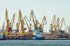 Chantier naval de Constanta Image libre de droits