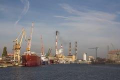Chantier naval de Danzig image stock