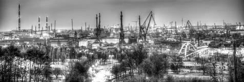 Chantier naval de Danzig, Pologne Image libre de droits