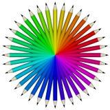 Échantillon de crayon Images libres de droits