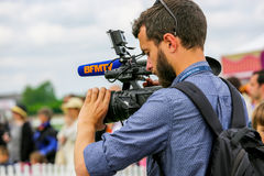 CHANTILLY - 15-ОЕ ИЮНЯ: Образ жизни на Prix de Диане в ипподроме, около Парижа 15-ого июня 2014, Франция Стоковая Фотография