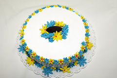 Chantilly cake flowers decoration dessert Royalty Free Stock Images
