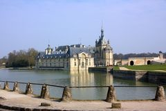 Chantilly castle on the outskirts of Paris. France. Stock Images