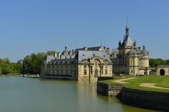 chantilly chateau de Arkivfoton