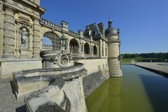 chantilly chateau de Arkivbild