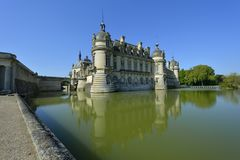 chantilly chateau de Royaltyfri Bild