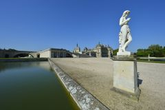 chantilly chateau de Royaltyfria Bilder