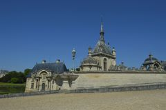 chantilly chateau de Royaltyfri Foto