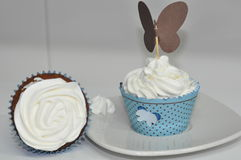 Chantilly Cupcakes  Royalty Free Stock Images