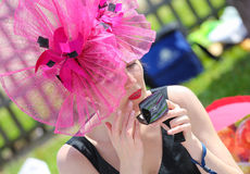 CHANTILLY - JUNE 15 : Lifestyle at Prix de Diane in racecourse, near Paris on June 15, 2014, France. Royalty Free Stock Photo