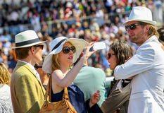 CHANTILLY - JUNE 15 : Lifestyle at Prix de Diane in racecourse, near Paris on June 15, 2014, France. Royalty Free Stock Photos