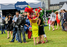 CHANTILLY - JUNE 15 : Lifestyle at Prix de Diane in racecourse, near Paris on June 15, 2014, France. Stock Photography