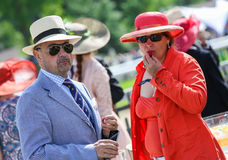 CHANTILLY - JUNE 15 : Lifestyle at Prix de Diane in racecourse, near Paris on June 15, 2014, France. Royalty Free Stock Image