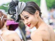 CHANTILLY - JUNE 15 : Lifestyle at Prix de Diane in racecourse, near Paris on June 15, 2014, France. Stock Images