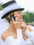 CHANTILLY - JUNE 15 : Lifestyle at Prix de Diane in racecourse, near Paris on June 15, 2014, France. Stock Image