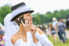 CHANTILLY - JUNE 15 : Lifestyle at Prix de Diane in racecourse, near Paris on June 15, 2014, France. Royalty Free Stock Images