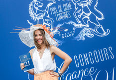 CHANTILLY - JUNE 15 : Lifestyle at Prix de Diane in racecourse, near Paris on June 15, 2014, France. Stock Images