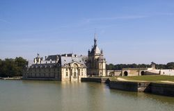 Chantilly-Schloss stockbilder