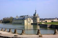 Chantilly-Schloss auf den Stadtränden von Paris. Frankreich. Stockbilder