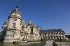 Chantilly slott, Picardie, Frankrike Fotografering för Bildbyråer
