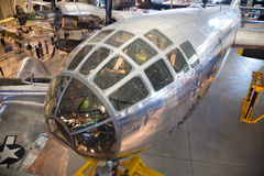 CHANTILLY, VIRGINIA - OCTOBER 10: Boeing B-29. Superfortress Enola Gay. Photographed inside the National Air and Space Museum's Steven F. Udvar-Hazy Center Stock Images