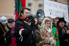 chanting εθνικιστικός ομιλητής συνθημάτων συνάθροισης Στοκ φωτογραφία με δικαίωμα ελεύθερης χρήσης