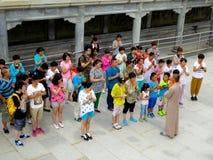 Chanting и молить стоковая фотография rf