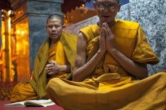 Chanting Monks Stock Photo