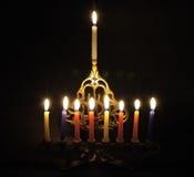 Chanuka candles stock photography