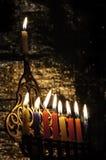 Chanuka candles royalty free stock photo