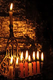 Chanuka candles Stock Image