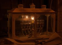 Chanuka lights in Jerusalem Stock Images