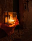 Chanuka lights in Jerusalem Royalty Free Stock Images