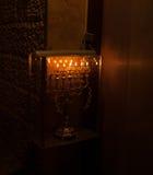 Chanuka lights in Jerusalem Royalty Free Stock Images