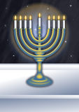 Chanukah Burning Lampstand Royalty Free Stock Images