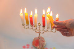 Chanukah candle Stock Photos