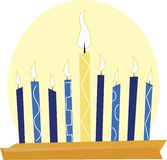 Chanukah Candles Royalty Free Stock Image