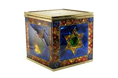 Chanukah Candy Box Royalty Free Stock Images