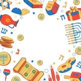 Chanukah felice, fondo ebreo di festa illustrazione di stock