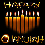 Chanukah feliz Fotos de archivo libres de regalías