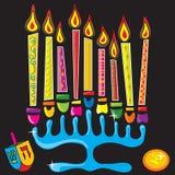 Chanukah feliz Menorah Imágenes de archivo libres de regalías