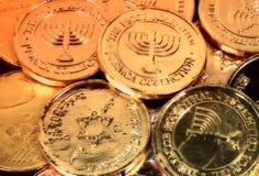 Chanukah Gelt Fotografia de Stock Royalty Free