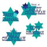 Chanukah graphics. Clipart set stock illustration