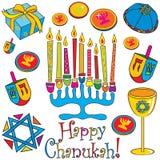 Chanukah heureux ! Images stock
