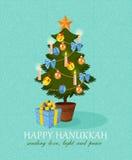 Chanukah heureux de vecteur Photos stock