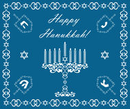 Chanukah holiday background with dreidels royalty free stock photography