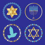 Chanukah icons clipart Stock Photography