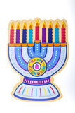 Chanukah Menorah. A Chanukah Menorah against a white background Stock Photo